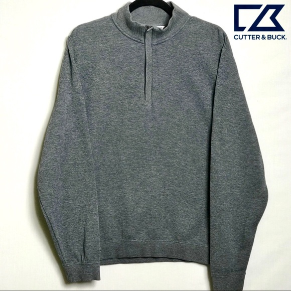Cutter Buck Sweaters Cutter Buck Mens Half Zip Mock Sweater